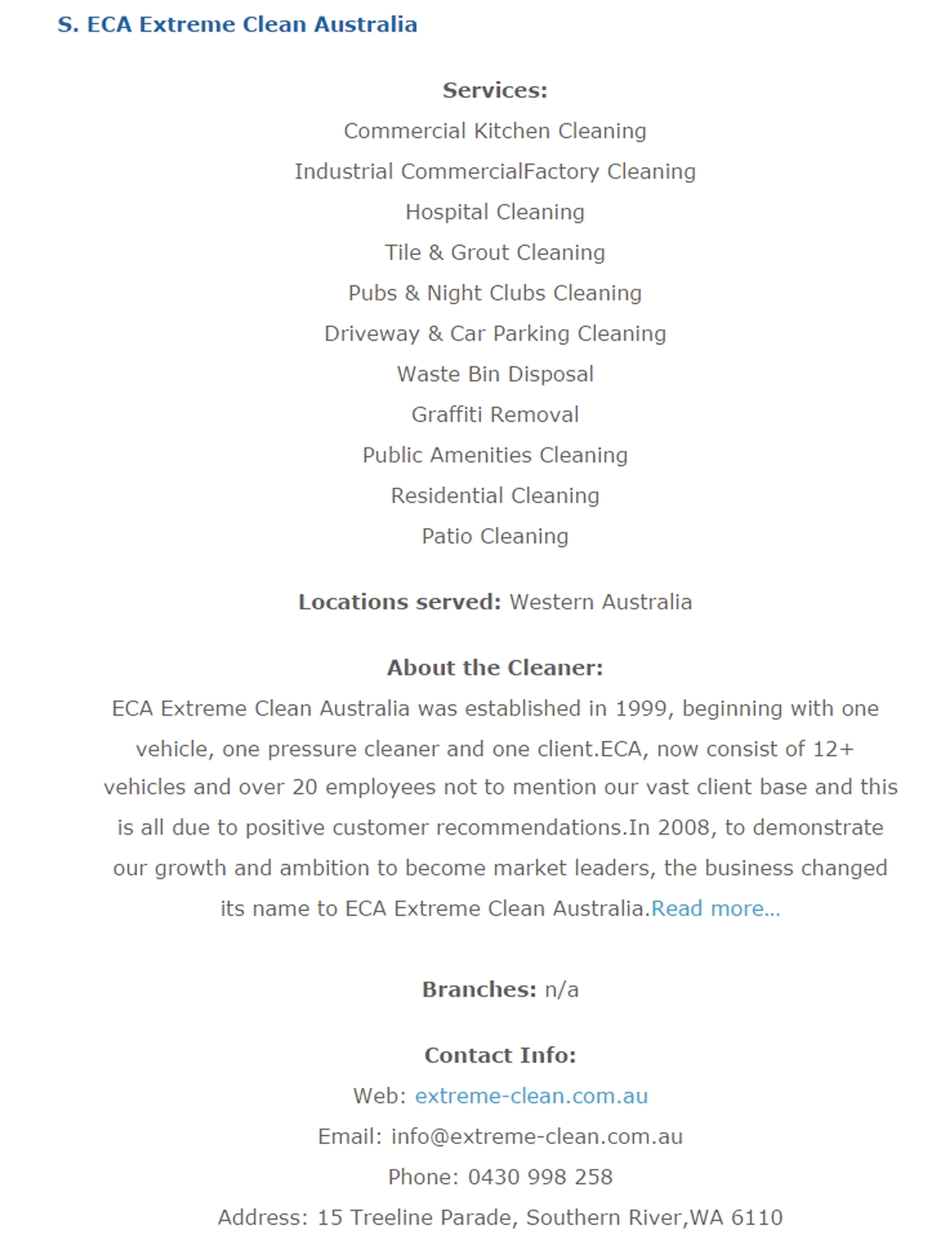 Featured Cleaning Company in Perth, WA